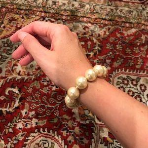 Coach large pearl bracelet
